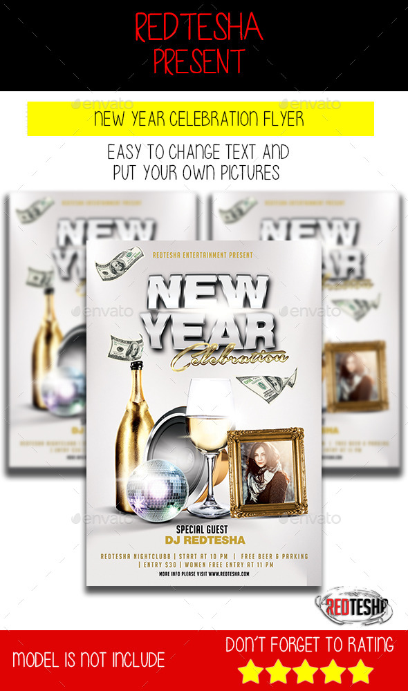 GraphicRiver New Year Celebration Flyer 9862572