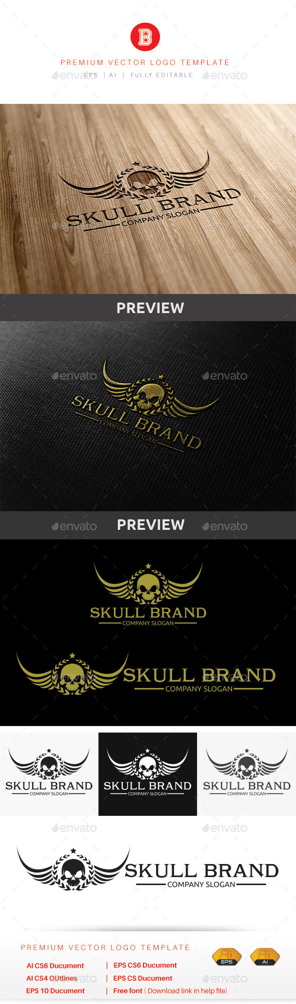 GraphicRiver Skull Brand 9862581