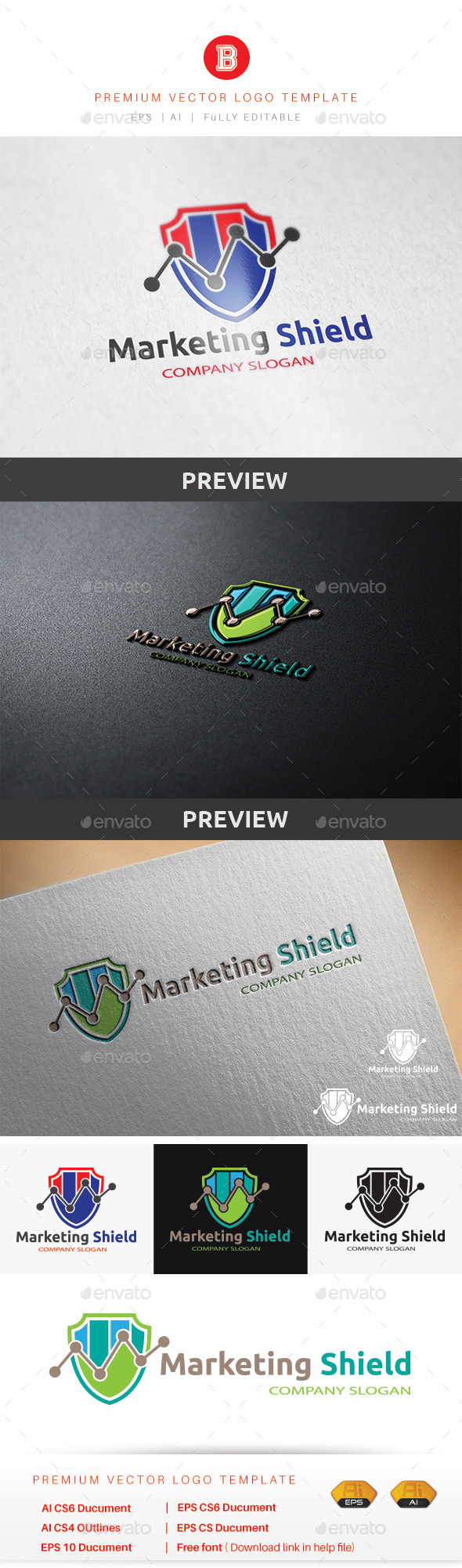 GraphicRiver Marketing Shield 9862586