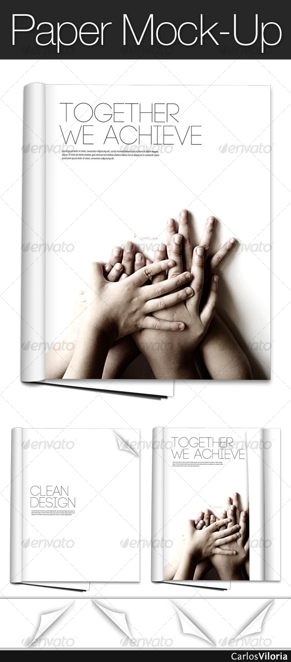 GraphicRiver Paper Mock-Up 108353