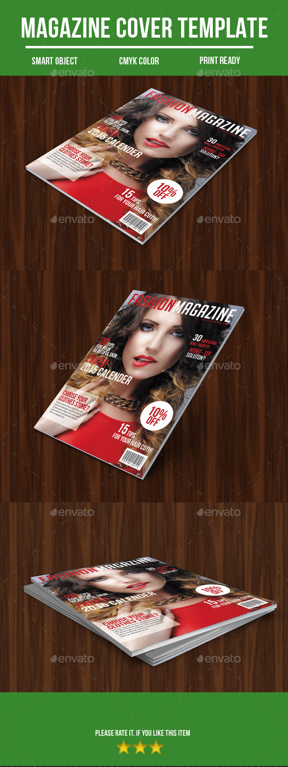 GraphicRiver Fashion Magazine Cover 9862697
