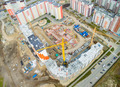Bird eye view on construction site in Tyumen - PhotoDune Item for Sale