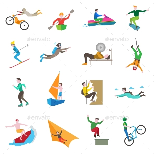 GraphicRiver Extreme Sports Icons 9862777