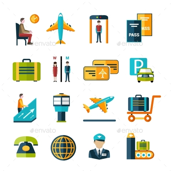 GraphicRiver Airport Icon Set 9862778