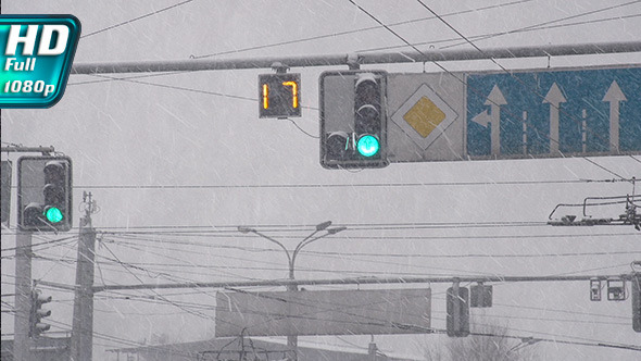 Urban Intersection and Blizzard