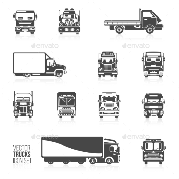GraphicRiver Truck Icons Set 9863146