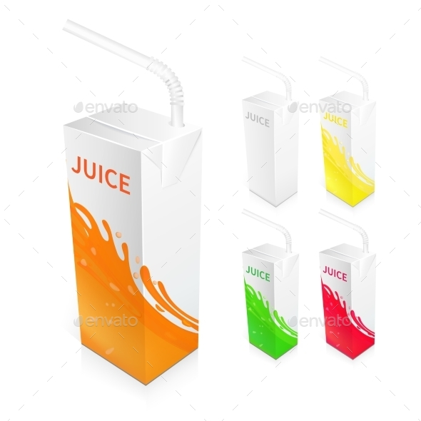 GraphicRiver Juice Box Package 9863168