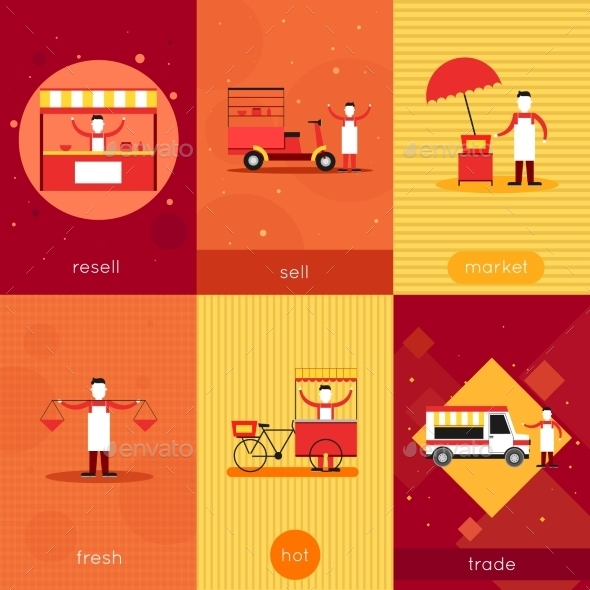 GraphicRiver Street Food Mini Poster Set 9863231
