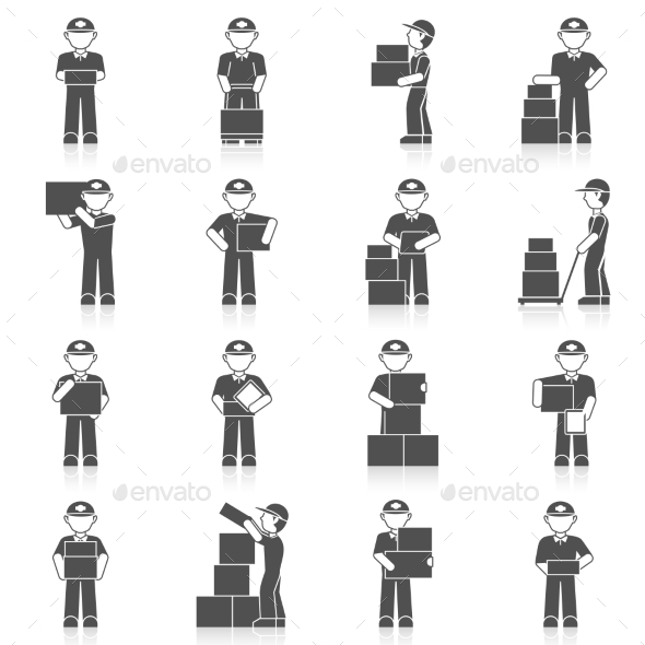 GraphicRiver Delivery Man Icon 9863248