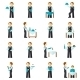 Waiter Man Icon Flat - GraphicRiver Item for Sale
