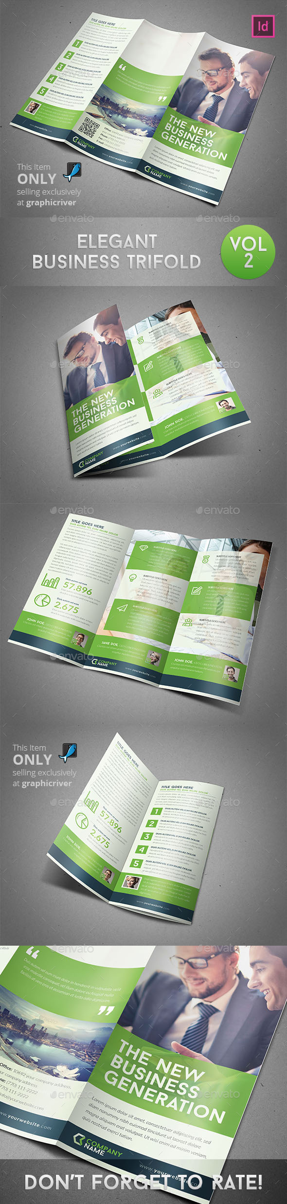 GraphicRiver Elegant Business Trifold 9863282