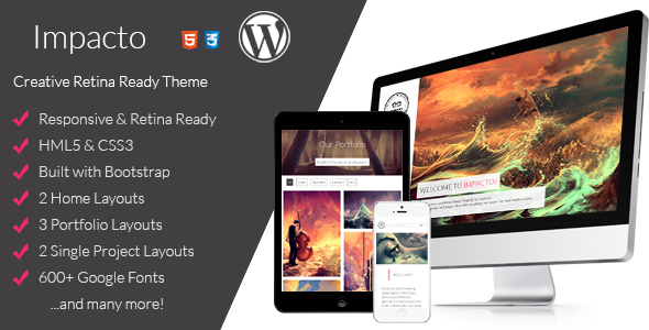 Impacto - Flavorful and Minimalistic WP Theme - Portfolio Creative