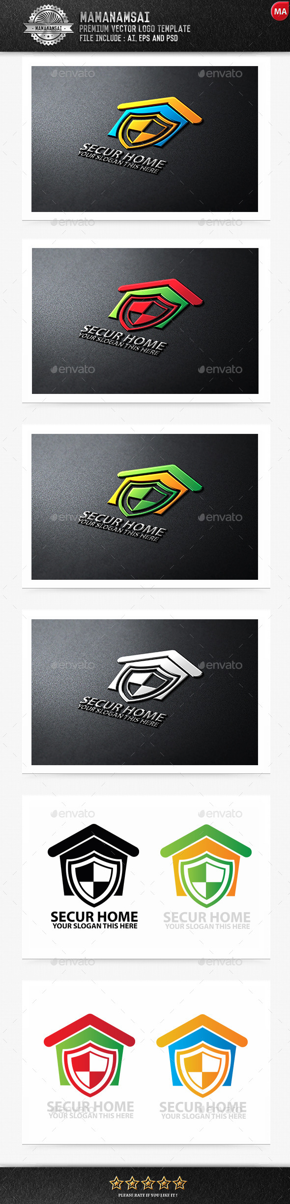 GraphicRiver Secure Home Logo 9840244