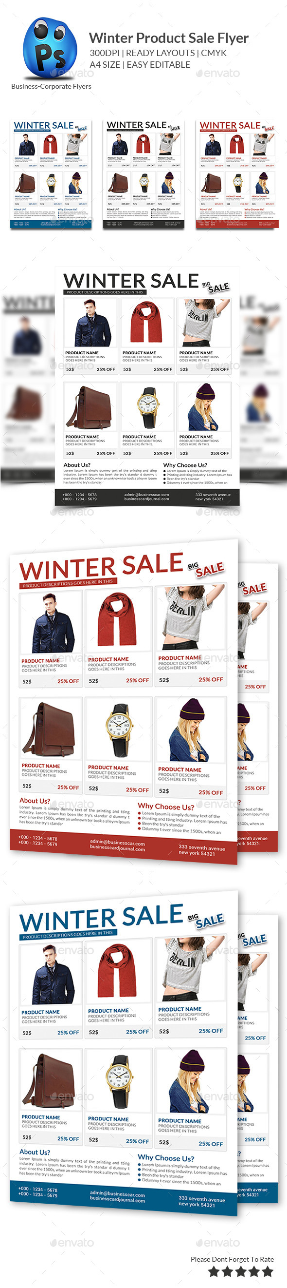 GraphicRiver Winter Product Sale Flyer 9863388