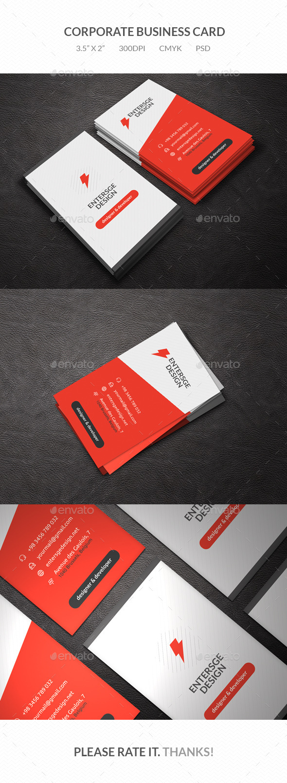 GraphicRiver Clean Business Card 9863460