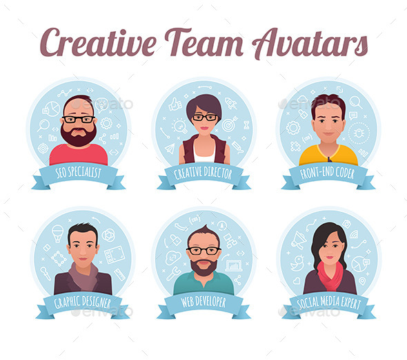 GraphicRiver Digital Marketing Team Avatars 9863570