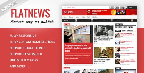 Flat News – Responsive Magazine WordPress Theme