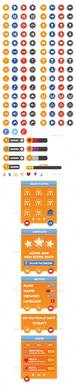 Mobile Game GUI Vol 6