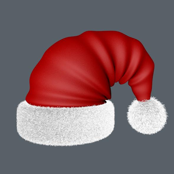 hat santa - 3DOcean Item for Sale