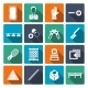 Billiards Icons Flat Set - GraphicRiver Item for Sale