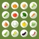 Vegetables Icons Flat Set - GraphicRiver Item for Sale
