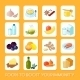 Healthy Food Icons Flat - GraphicRiver Item for Sale