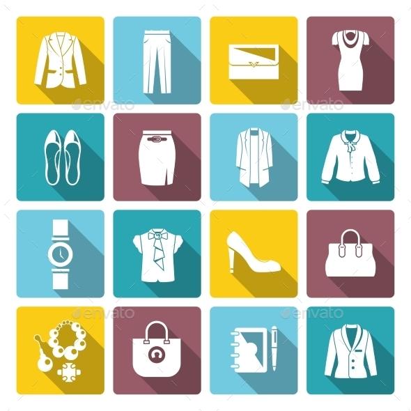 GraphicRiver Businesswoman Clothes Set 9863864