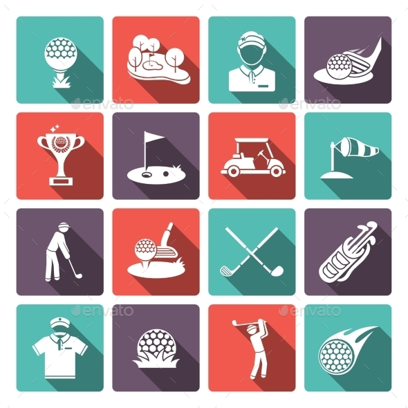 GraphicRiver Golf Icons Set 9863873
