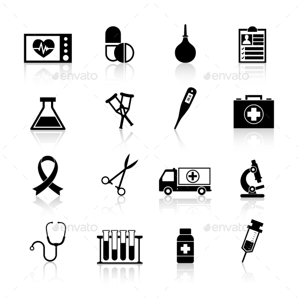 GraphicRiver Medical Equipment Icon Black 9863900