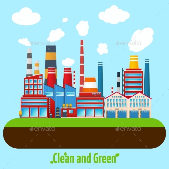 GraphicRiver Green Industry Poster 9863904