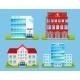 Buildings Emblems Set - GraphicRiver Item for Sale