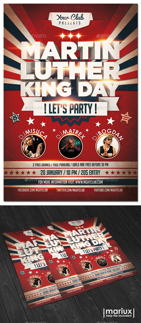 GraphicRiver MLK Day Party Flyer 9864061