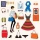 Fashion Items Set - GraphicRiver Item for Sale