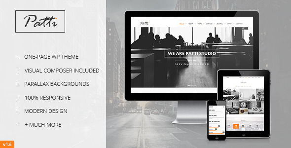Patti - Parallax One Page WordPress Theme - Portfolio Creative