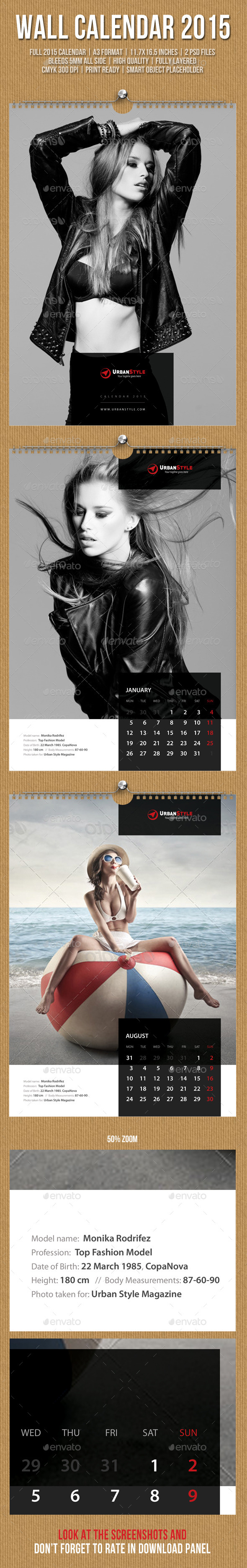GraphicRiver Wall Calendar A3 2015 V09 9864391