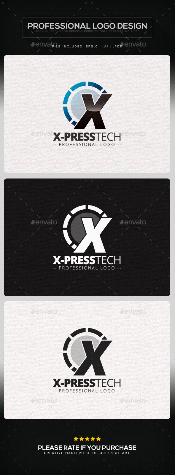 X-press Tech Logo Template