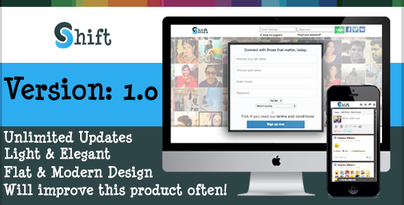 CodeCanyon Shift Theme for Crea8social 9849577
