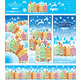 Pattern Brush Snowy Old Town  - GraphicRiver Item for Sale