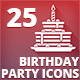 Collection of 25 Birthday Party Icons - GraphicRiver Item for Sale