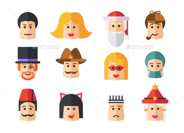GraphicRiver Set of Avatars Icons 9864801