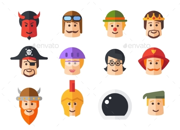 GraphicRiver Set of Avatars Icons 9864804