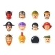 Set of Avatars Icons - GraphicRiver Item for Sale