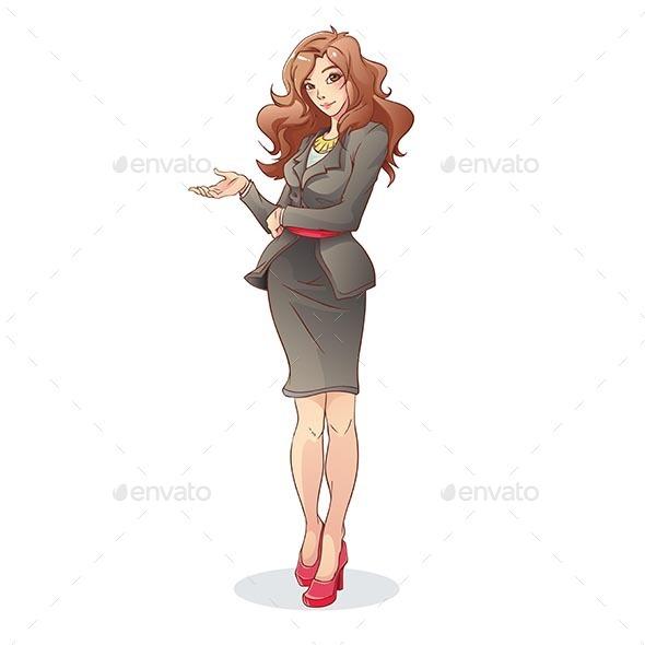 GraphicRiver Businesswoman 9865141