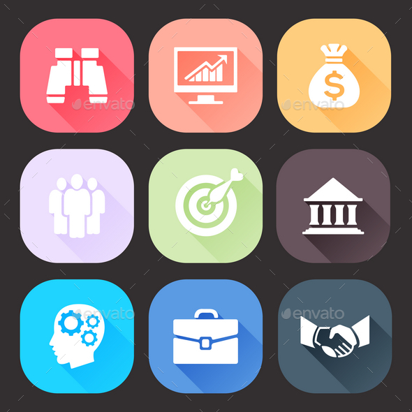 GraphicRiver Business Icons Set 9865563