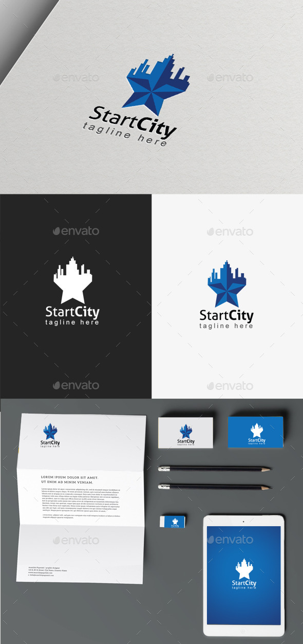 GraphicRiver Star City Logo 9865789
