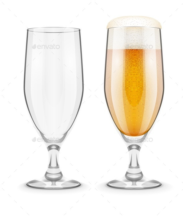 GraphicRiver Beer with Foam in Glass Goblet for Pub Drinking 9865800