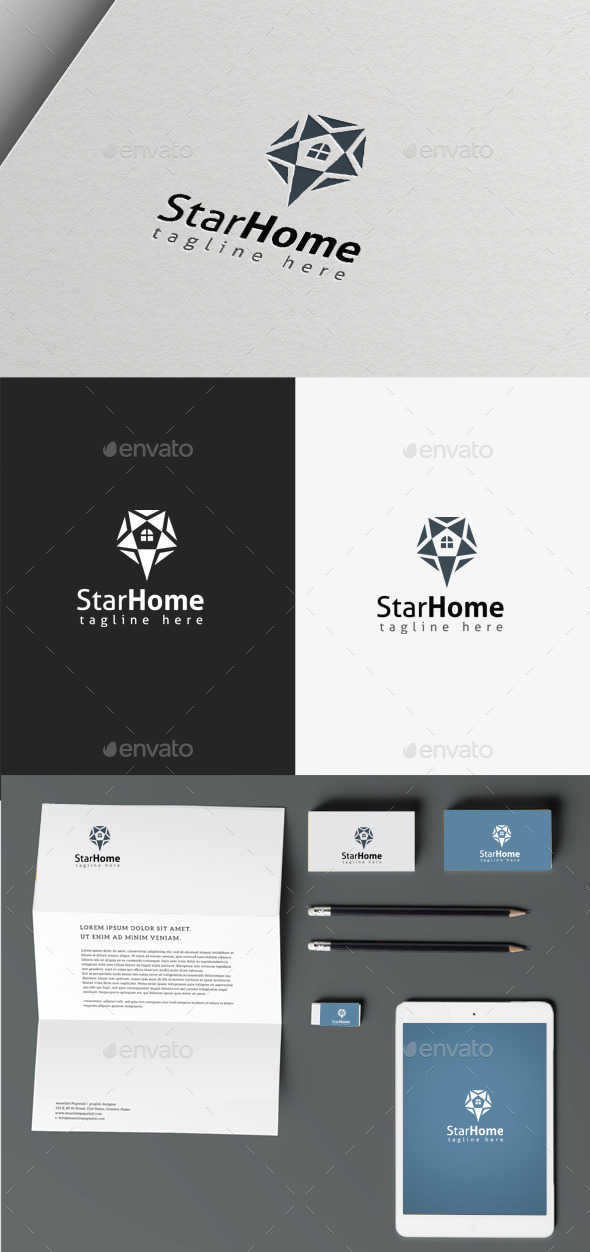 GraphicRiver Star Homes Logo 9865813