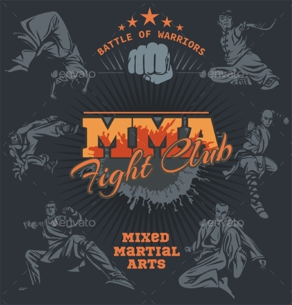 GraphicRiver Mixed Martial Arts Design Labels 9866121