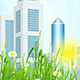 Green Grass with Skyscrapers - GraphicRiver Item for Sale