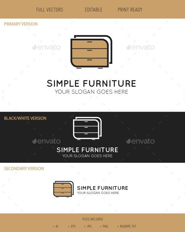 GraphicRiver Simple Furniture Logo 9836022